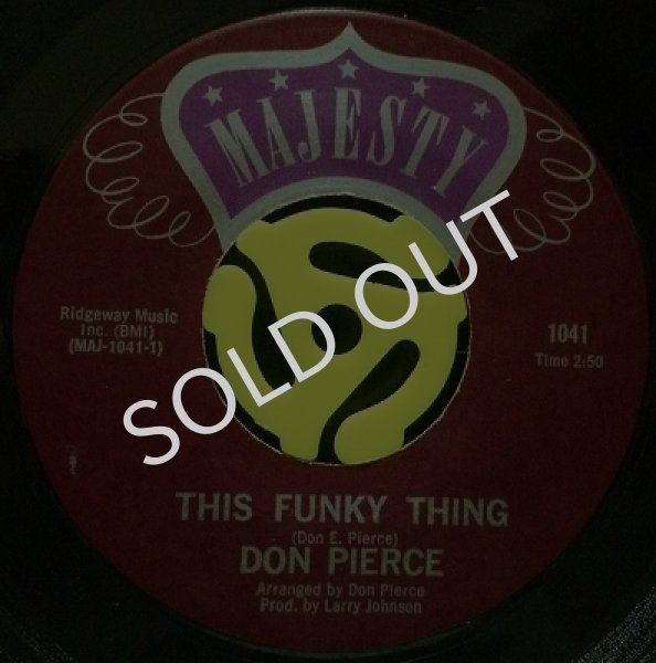DON PIERCE / THIS FUNKY THING