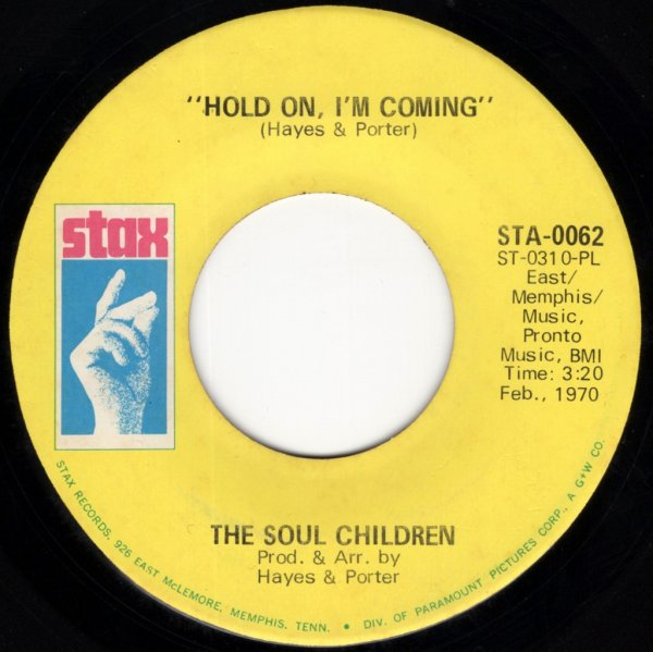 画像1: THE SOUL CHILDREN - HOLD ON, I'M COMING / MAKE IT GOOD  (1)