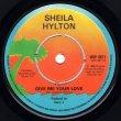 画像2: SHEILA HYLTON - THE BED'S TOO BIG WITHOUT YOU / GIVE ME YOUR LOVE  (2)