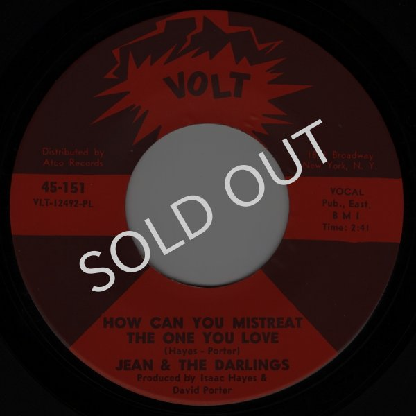 画像1: JEAN & THE DARLINGS - HOW CAN YOU MISTREAT THE ONE YOU LOVE / THAT MAN OF MINE  (1)