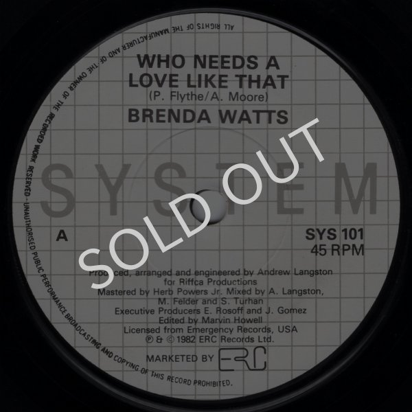 画像1: BRENDA WATTS / MICHELLE WALLACE - WHO NEEDS A LOVE LIKE THAT / JAZZY RHYTHM  (1)