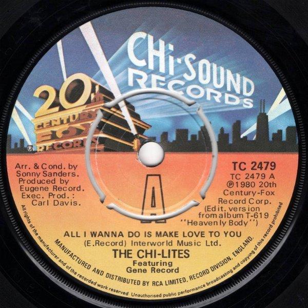 画像1: THE CHI-LITES FEATURING GENE RECORD - ALL I WANNA DO IS MAKE LOVE TO YOU / LOVE SHOCK  (1)