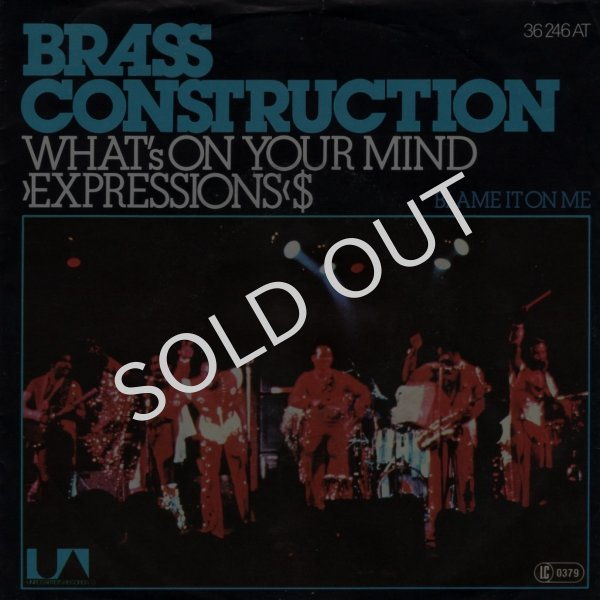 画像1: BRASS CONSTRUCTION - WHAT'S ON YOUR MIND (EXPRESSIONS) / BLAME IT ON ME (INTROSPECTION)  (1)
