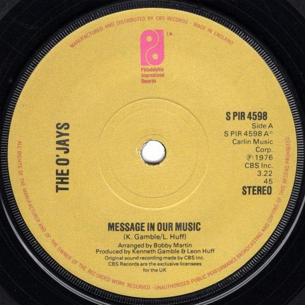 画像1: THE O'JAYS - MESSAGE IN OUR MUSIC / SHE'S ONLY A WOMAN  (1)