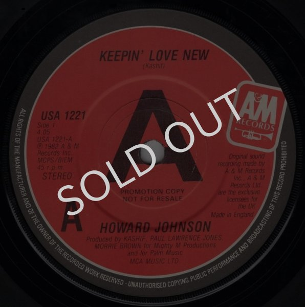 画像1: HOWARD JOHNSON ‎- KEEPIN' LOVE NEW / SO FINE  (1)