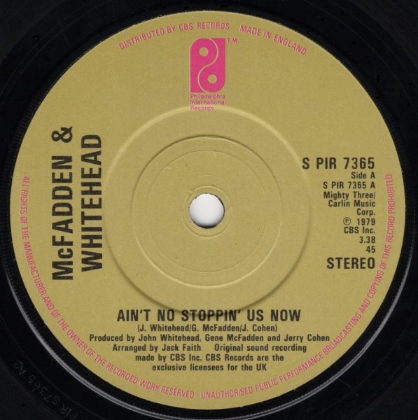 画像1: McFADDEN & WHITEHEAD - AIN'T NO STOPPIN' US NOW / I GOT THE LOVE  (1)