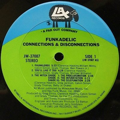 Funkadelic Connections Amp Disconnections Vinyl Whiz Records